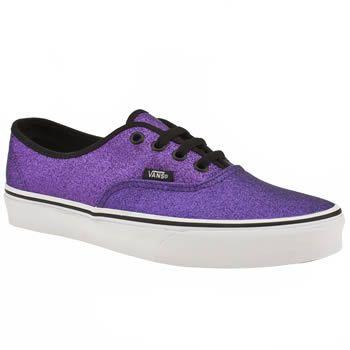 womens purple glitter vans