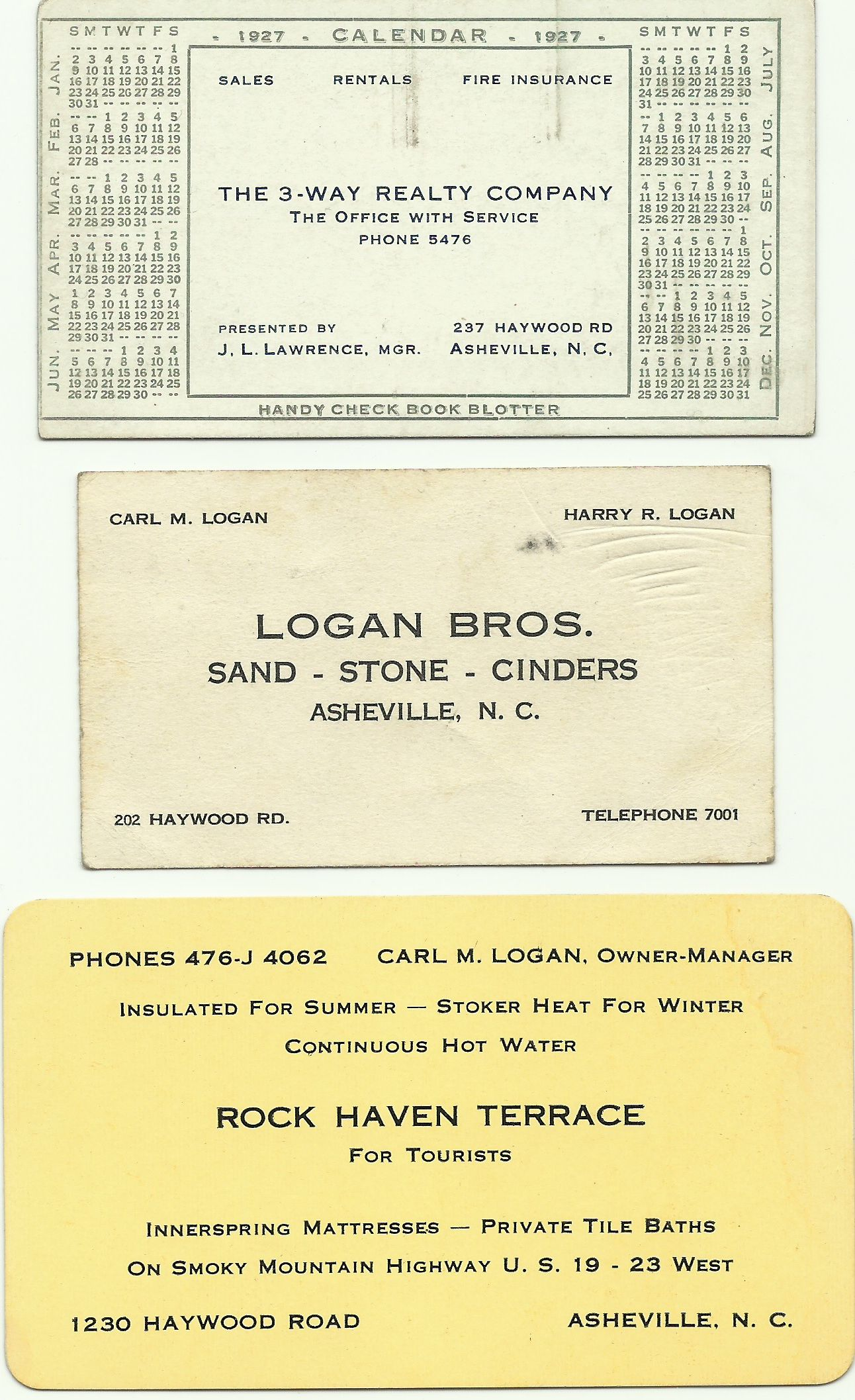 Three business cards from the family, 1920s and 1930s | Family ...