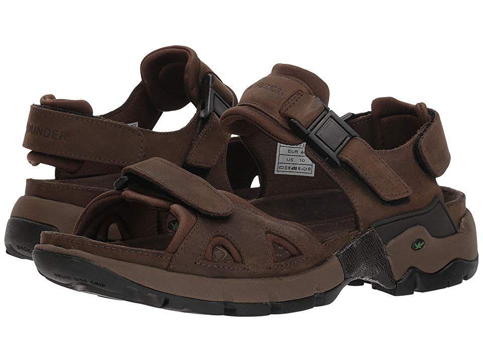 Allrounder by Mephisto Alligator Men's Sandals Brown Waxy