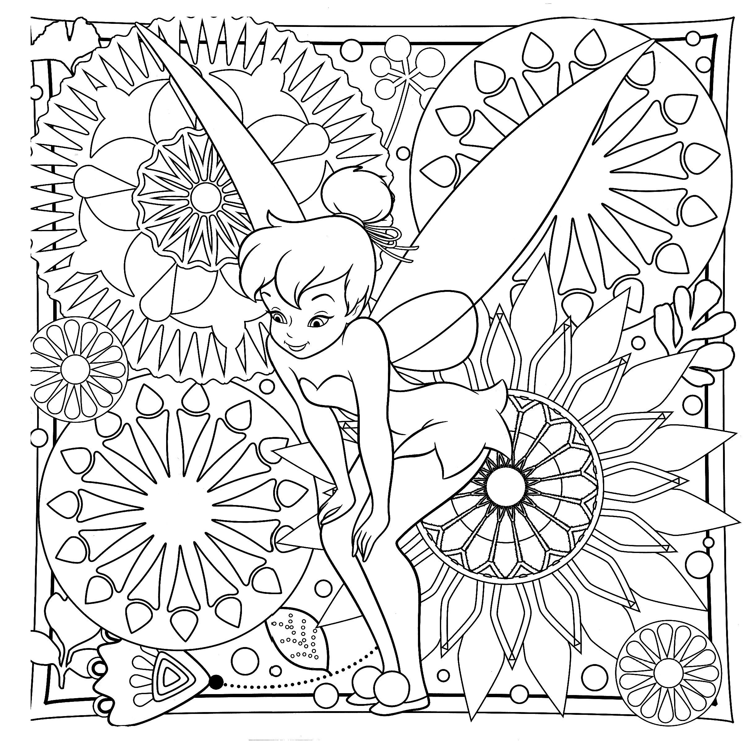 Tinkerbell Difficult Coloring Page Tinkerbell Coloring Pages Butterfly Coloring Page Horse Coloring Pages