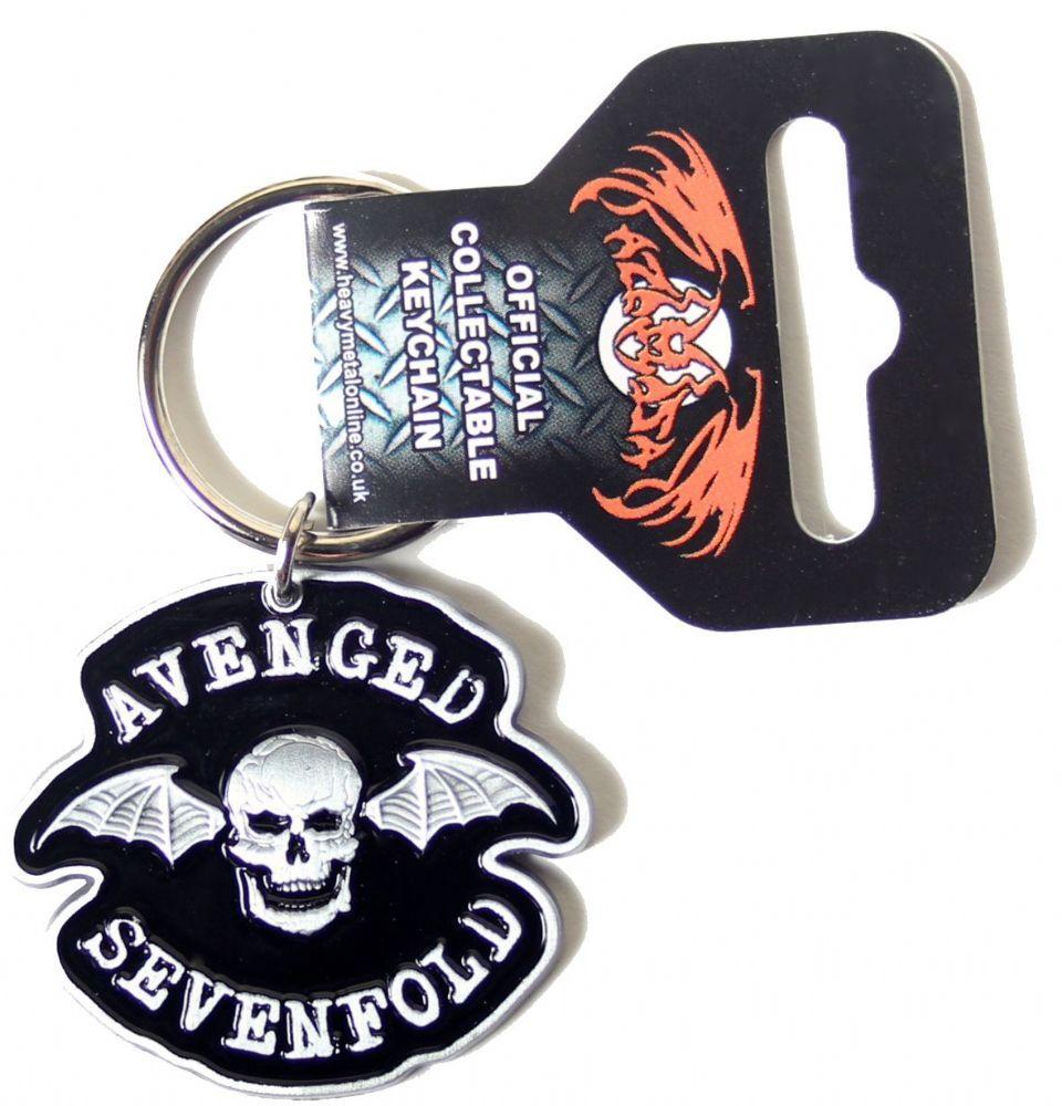 Av av avenged sevenfold tattoo designs - Official Avenged Sevenfold Metal Keyring Measuring Approx 45mm X 40mm Featuring The Death Bat Logo Design