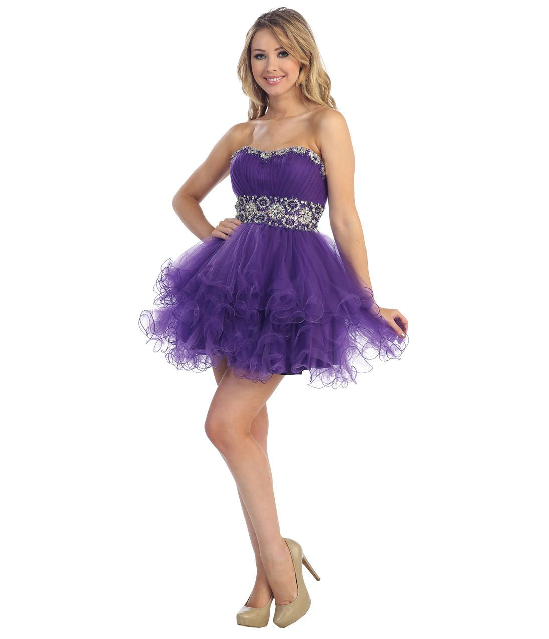 New Cute Flirty Sexy Short Straples Homecoming Cocktail Prom Party ...