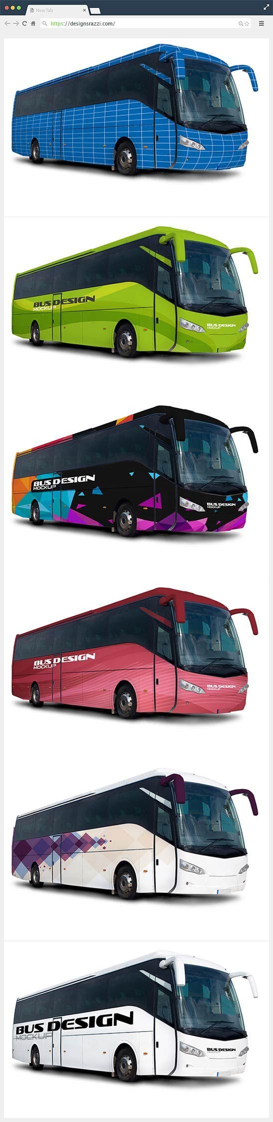 Bus Design Free Psd Mockup Designrazzi Mockup Free Psd Mockup Psd Photoshop Mockup