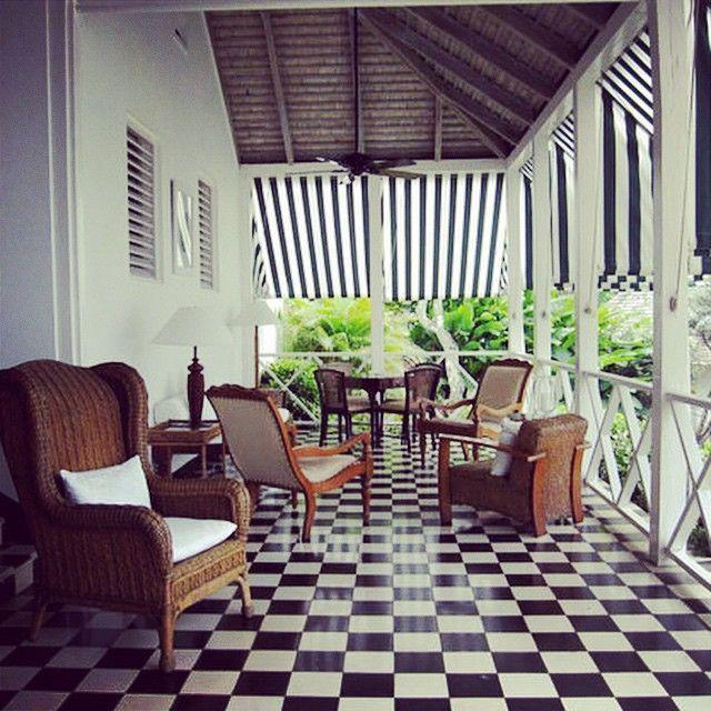Roundhill Hotel Veranda Jamaica Colonial Architecture