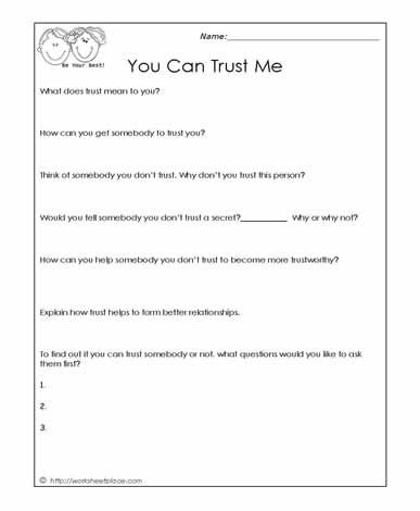 Trust Worksheet | Projects to Try | Pinterest | Worksheets