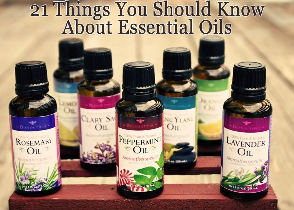 Things to know about essential oils