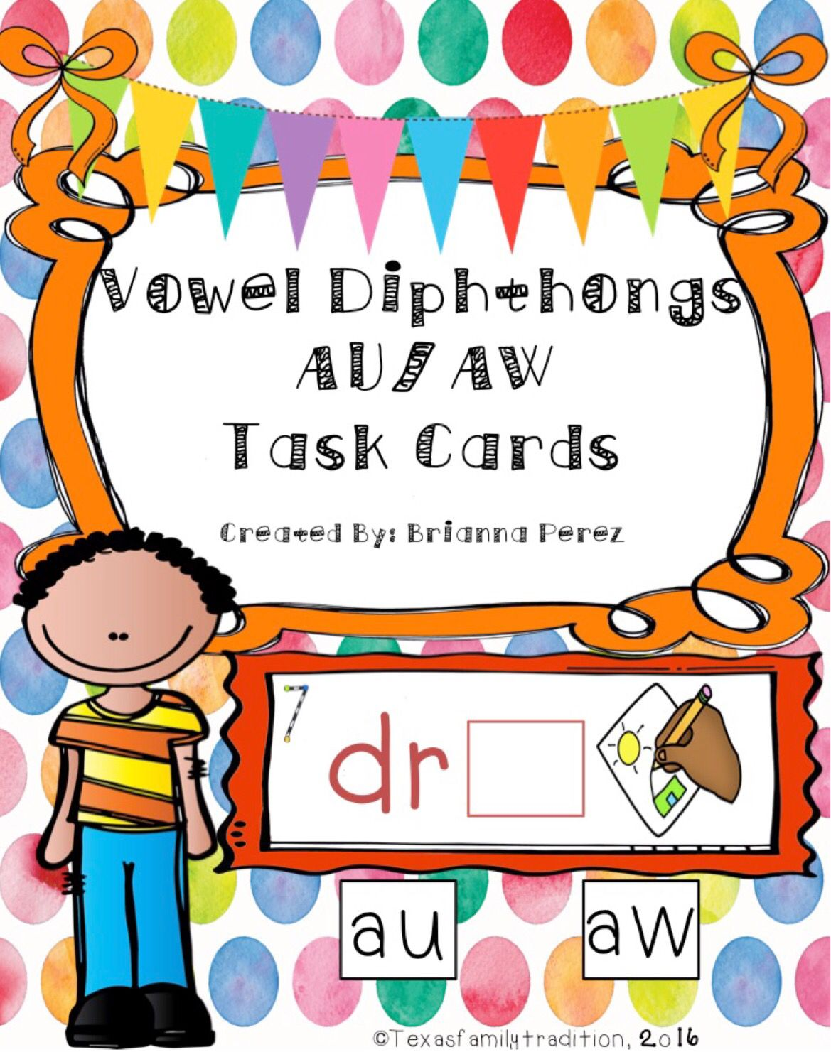 Vowel Diphthongs Aw Au Task Cards