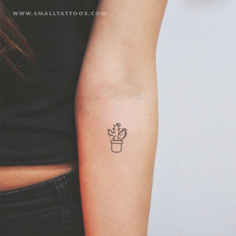 Photo of Cactus Couple Temporary Tattoo (Set of 2+2)