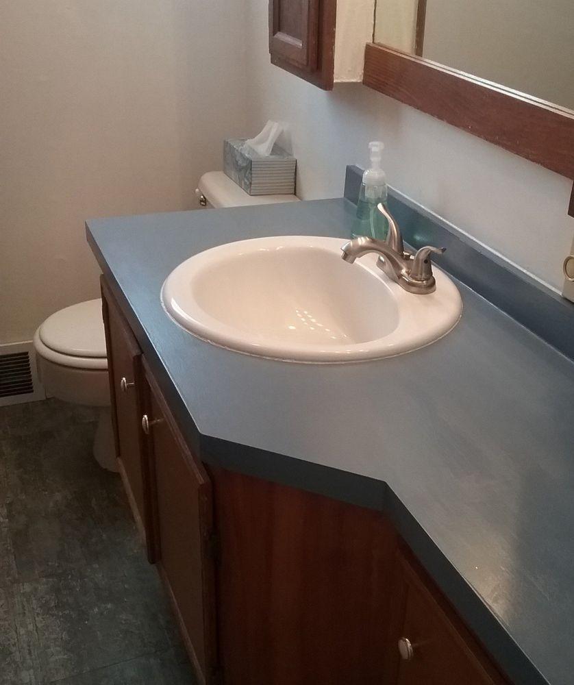 Countertop Update Bathroom Wooden Bathroom Countertop