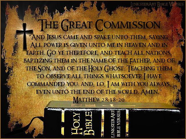 matthew 18:20 | LinksterArt Bible Verses: Matthew 28:18–20 ...