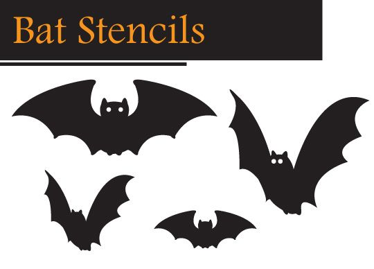 Diy halloween window decorations halloween stencils stenciling and craft - Printable halloween decorations ...