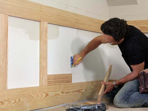 How To Install Shaker Style Wainscot Wood Trim Work In