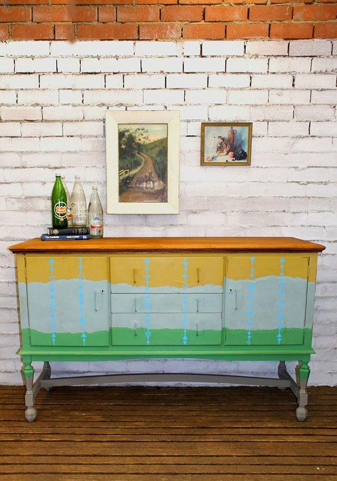 Reciclar muebles con pintura para amueblar la casa | Aparadores ...