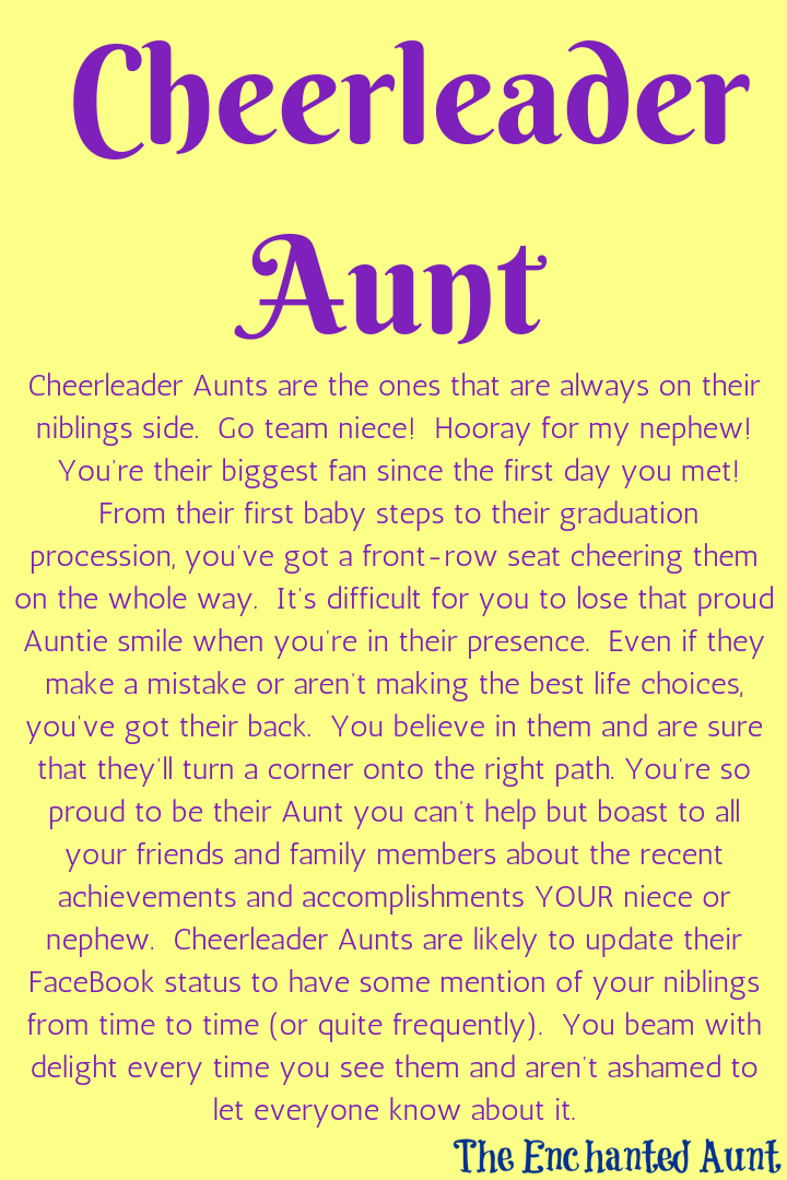 Read About The 4 Different Types Of Aunts Aunt Quotes Niece