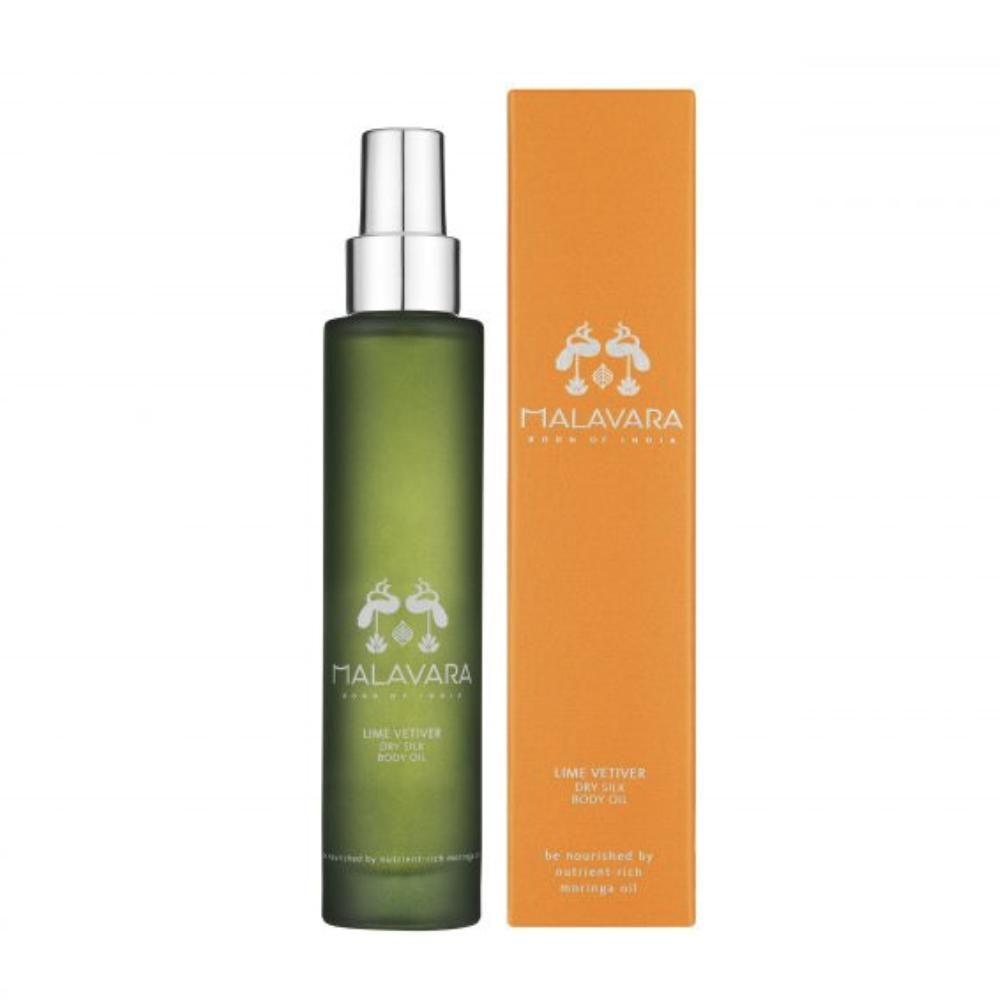 28+ Malavara   Lime Vetiver Dry Silk Body Oil 100ML