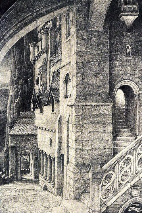 alan lee art | Alan Lee - Minas Tirith