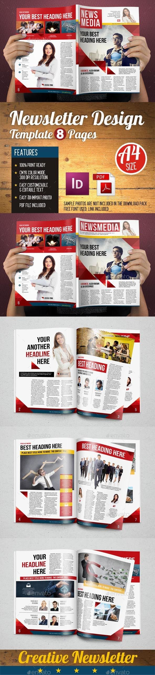 Newsletter Design Template Vol 5 Newsletter Templates Newsletter