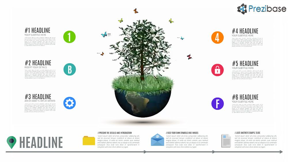Professional D Animated World Tree Presentation Template For