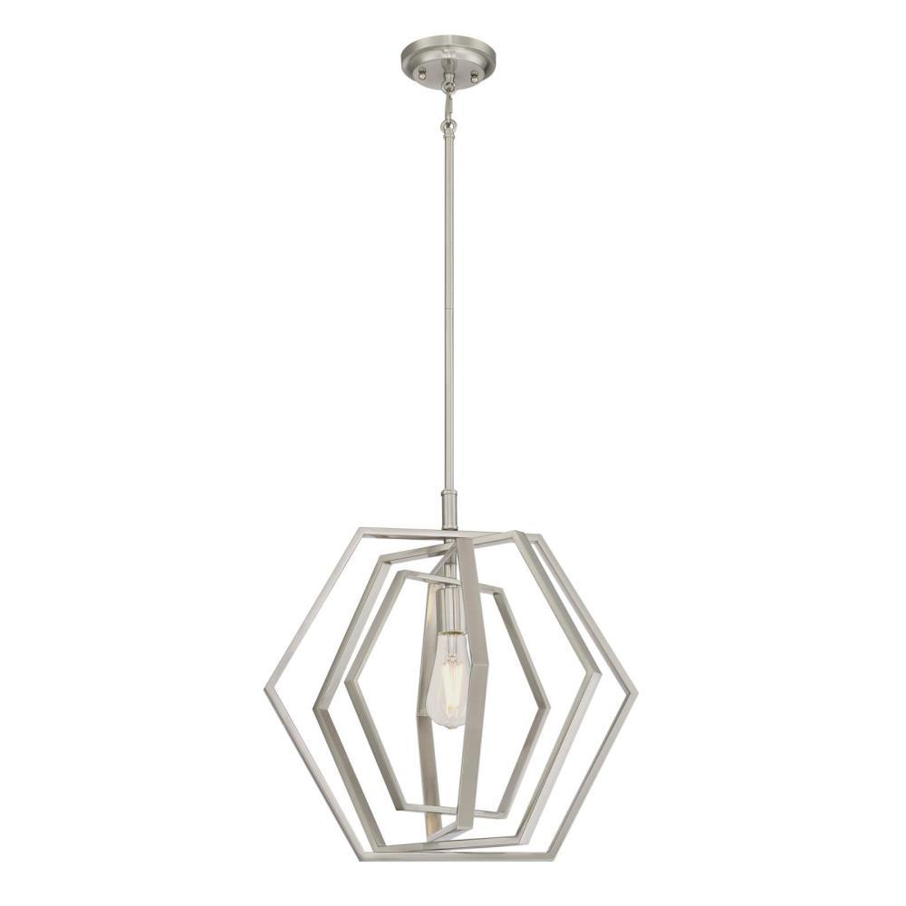 Westinghouse 1 Light Brushed Nickel Pendant 6351300 With Images Indoor Pendant Light Bulb Bases Pendant Lighting
