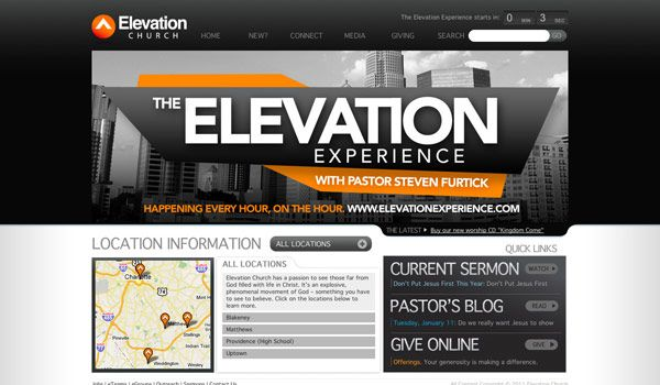 church website design ideas they are boldly stating that your experience will be great church