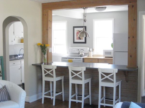 Stonington Gray Kitchen With Island And Ikea White Ingolf Bar