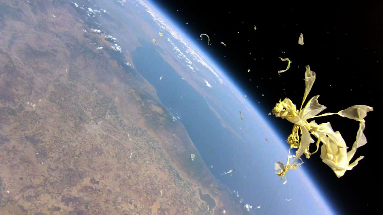 High Altitude Balloon Burst Earth From Above Pinterest