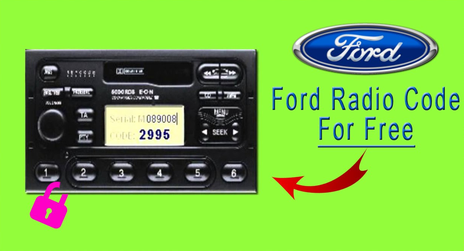 How To Use Ford Radio Code Generator All Models For Free