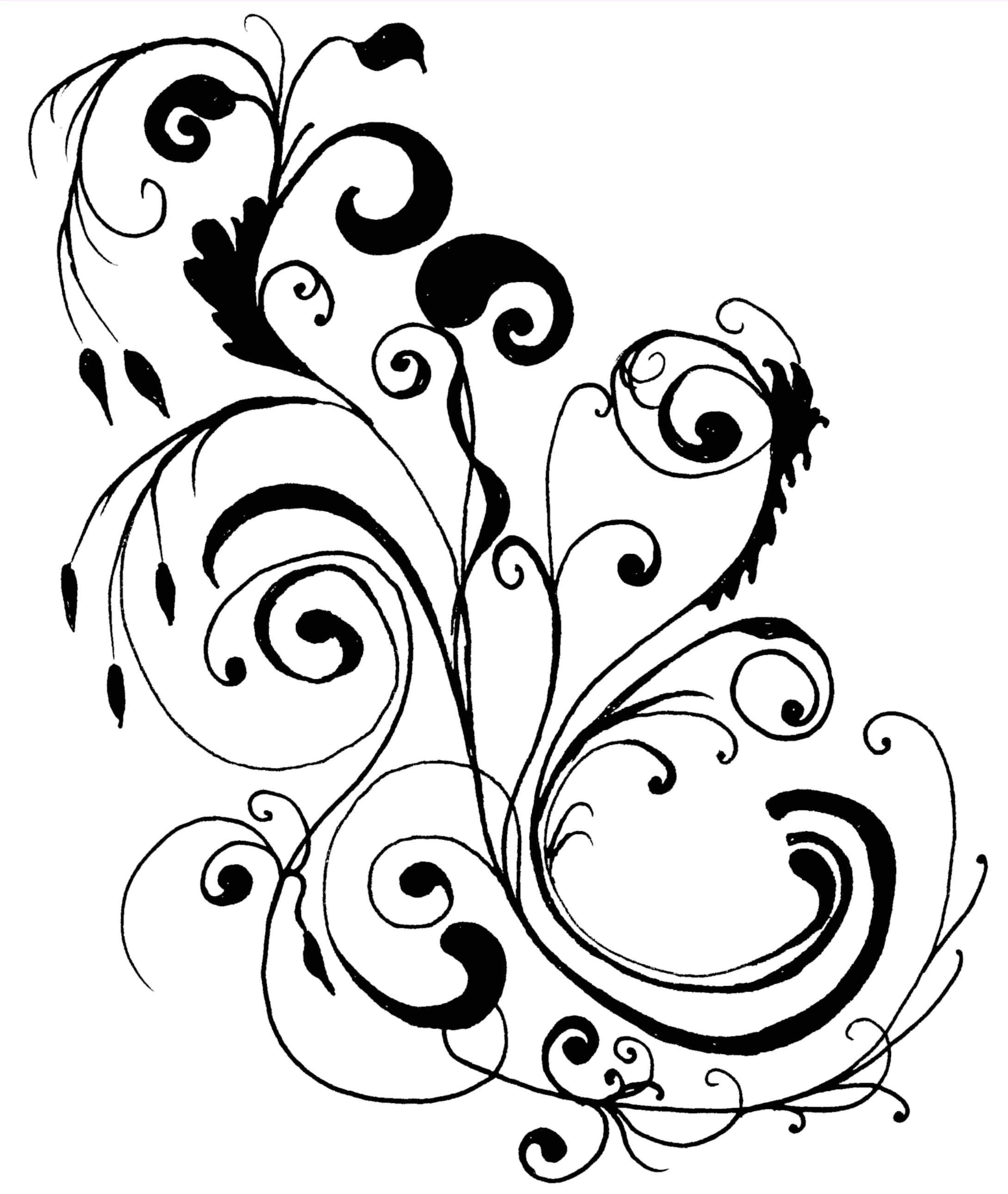 freeform line art Each of the above clip art borders is