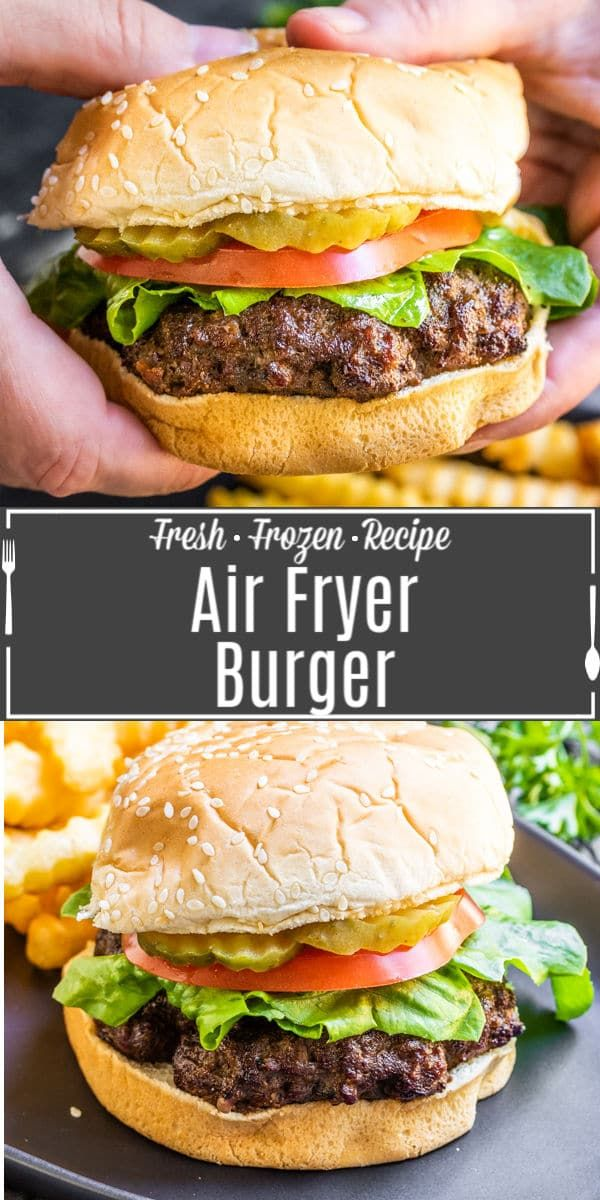 Air Fryer Burgers in 2020 Beef recipes for dinner