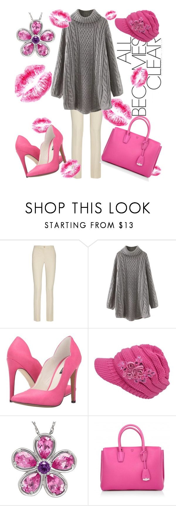 """""""Spring's Kiss"""" by april-wilson-nolen ❤ liked on Polyvore featuring Etro, WithChic, Michael Antonio and MCM"""