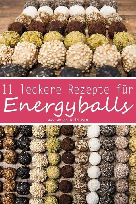 11 leckere gesunde Pralinen und Energyballs Rezepte