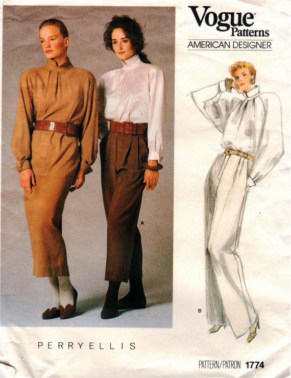 Vintage UNCUT Vogue American Designer PERRY ELLIS
