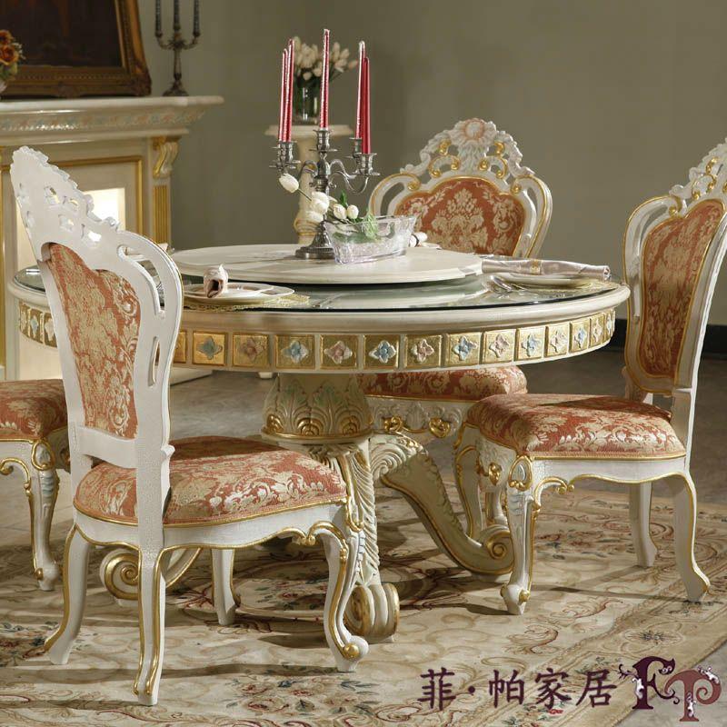 Muebles de lujo del dise o de italia madera hoja dorado for Muebles comedor disea o