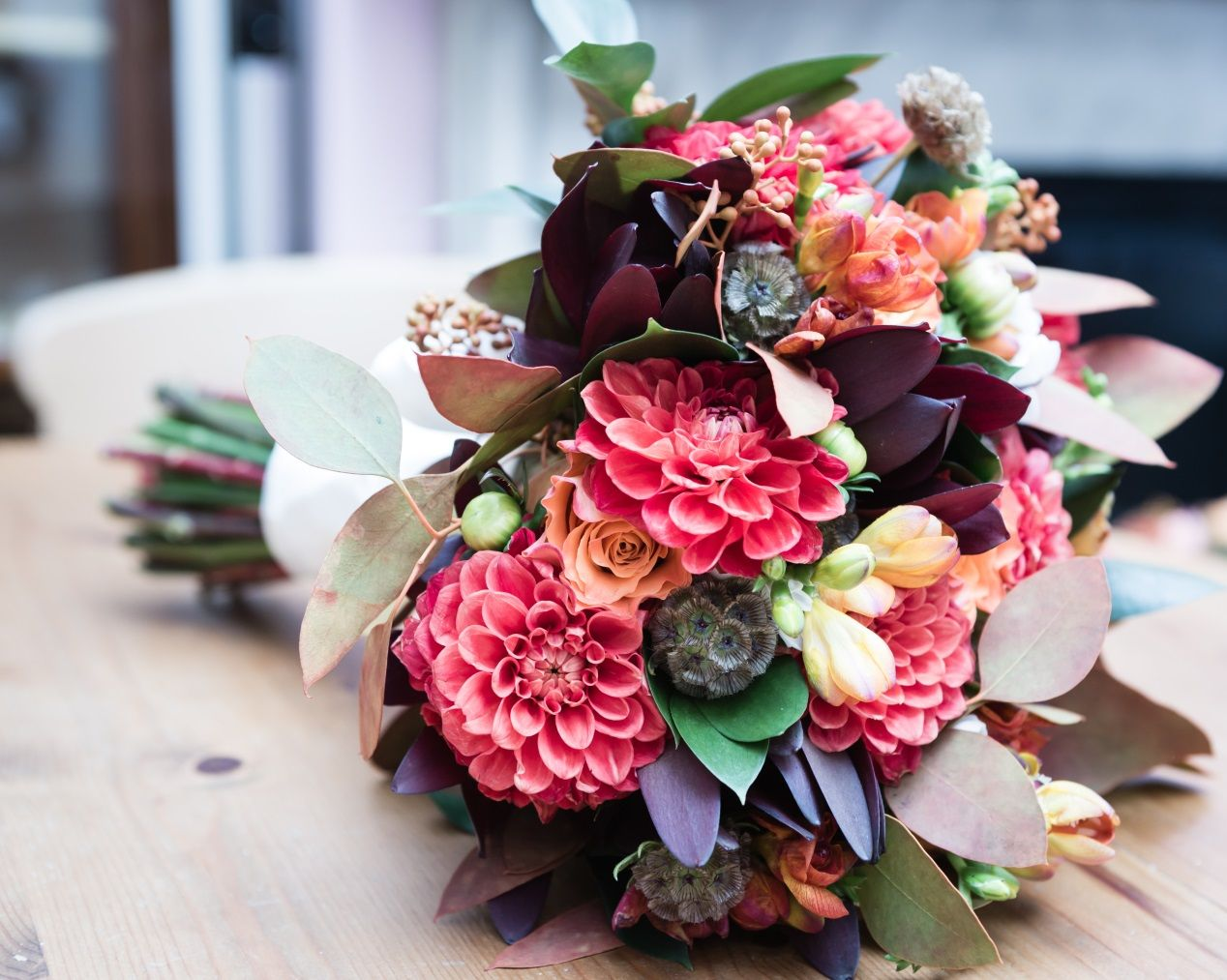 Autumnal Wedding Flower Bouquets London, UK 1   Danai\'s BIG Day ...