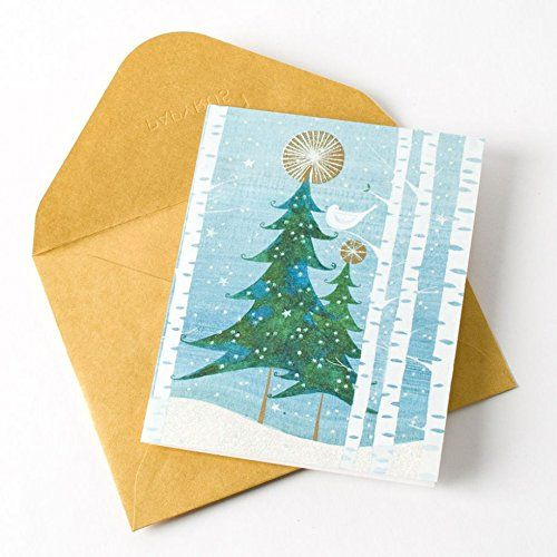 Papyrus Snowbird Tree Holiday Cards Box of 20 5214058 ** Click on