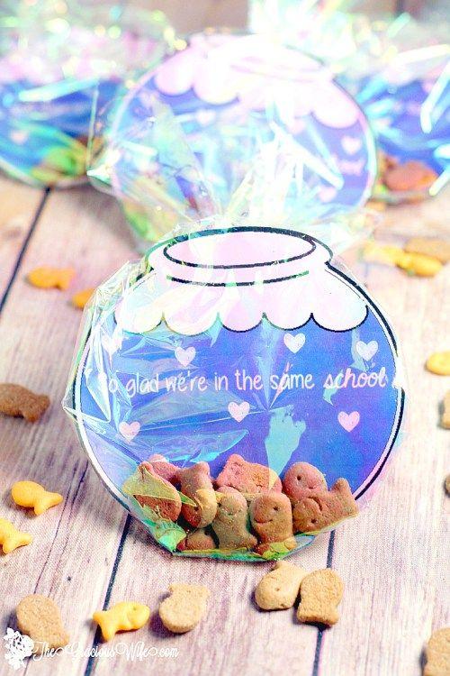 Diy Fishbowl Valentine Printable Fishbowl Free