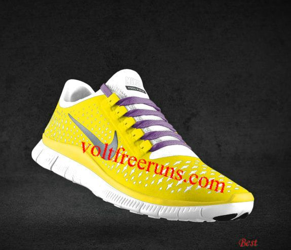 ... cheapest mens nike free 3.0 v4 chrome yellow reflect silver platinum  deep purple lace shoes ...