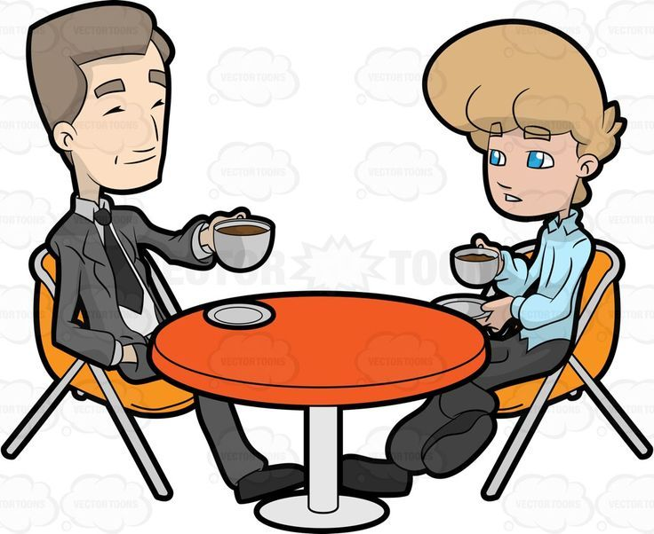 A guy having coffee with his lawyer attorney barrister