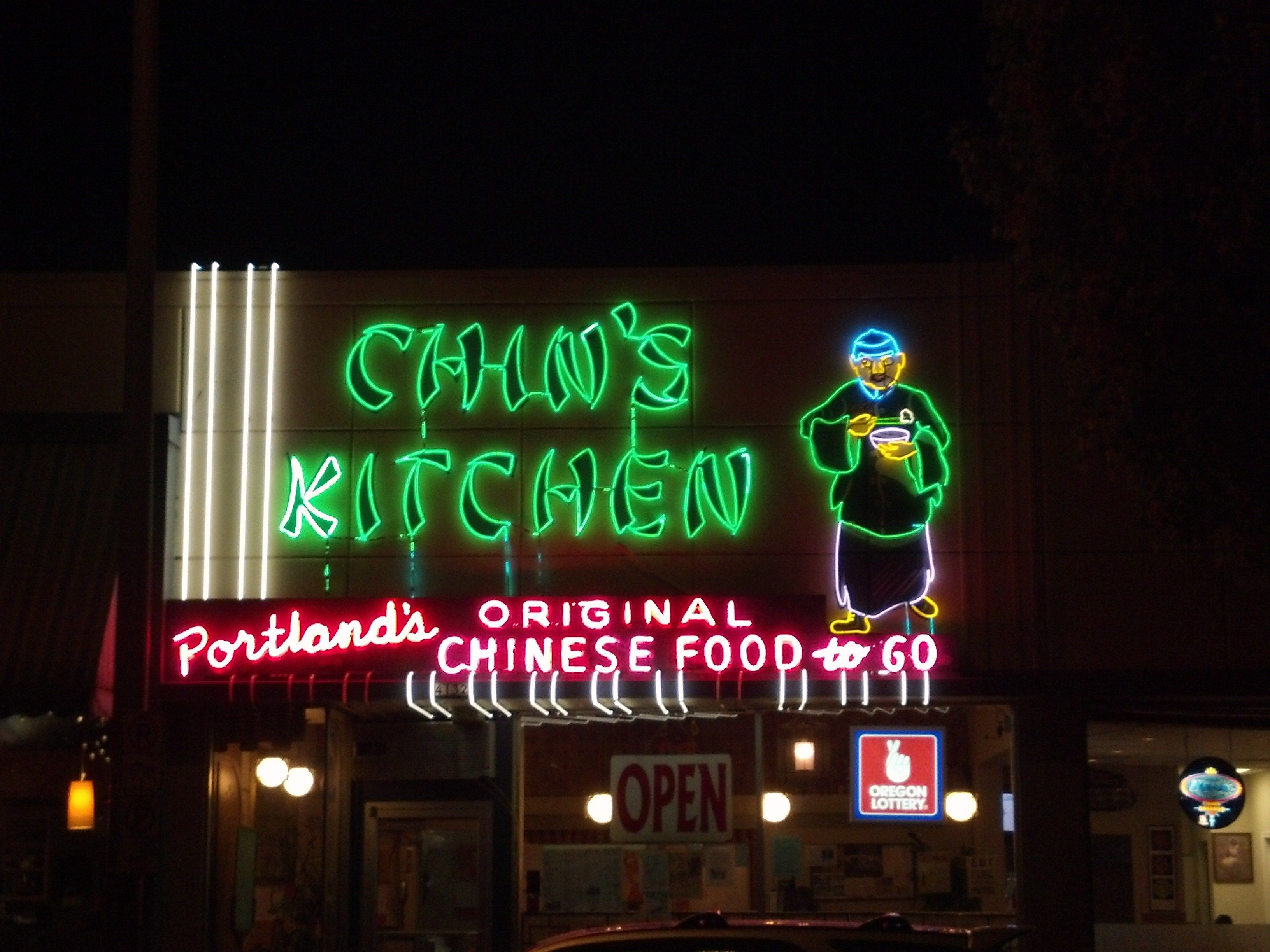Chin S Kitchen In Portland Oregon Neon Signs Neon Chinatown
