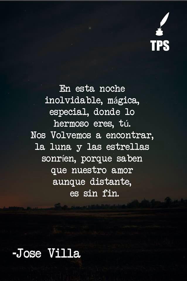 Jose Villa En Esta Noche Frases Frases Amor Y Citas