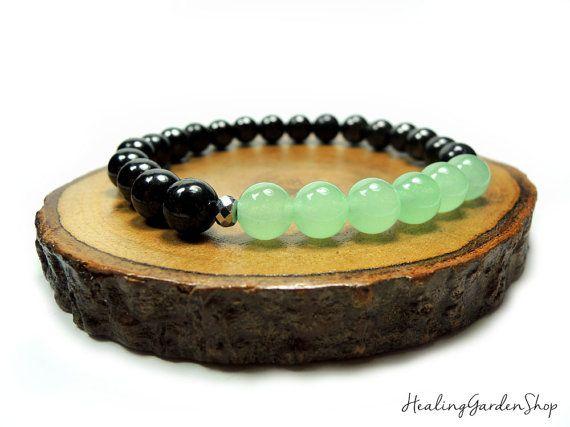 Stress Relief // Black Tourmaline and Green by HealingGardenSho☆☆DON'T FORGET TO use promo code TRES10 for 10% off at HealingGardenShop.etsy.com & rockmyzen.com😊💜☆☆