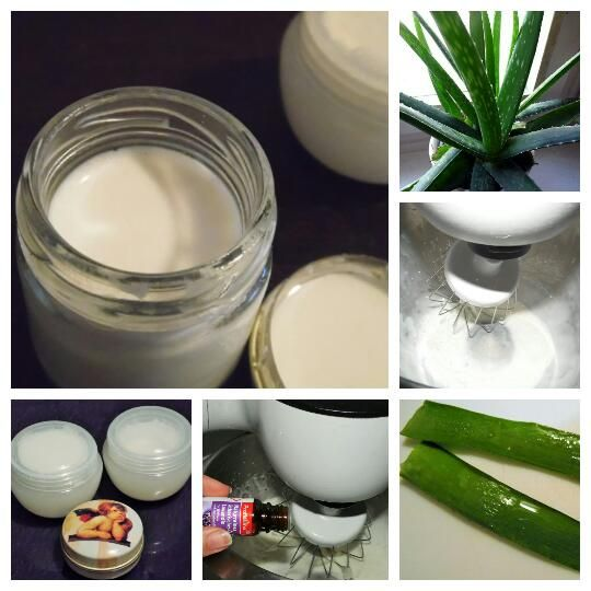 diy aloe vera creme selber machen aus milch und l make up. Black Bedroom Furniture Sets. Home Design Ideas