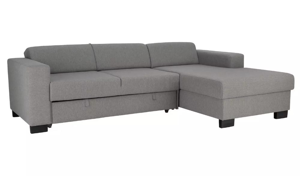 Buy Argos Home Ava Corner Fabric Sofa Bed Light Grey