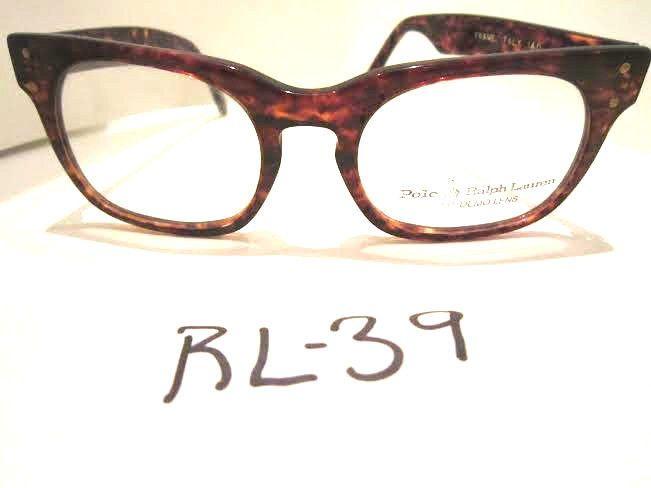 POLO RALPH LAUREN Vintage 1980's Horn Rim Tortoise Eyeglass Frame (RL-39)