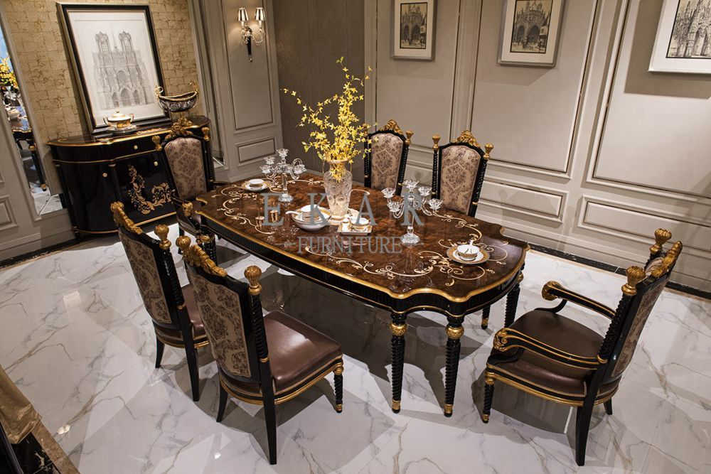 Marble Top Dining Rable With Chairs Cheap Modern Dining Table