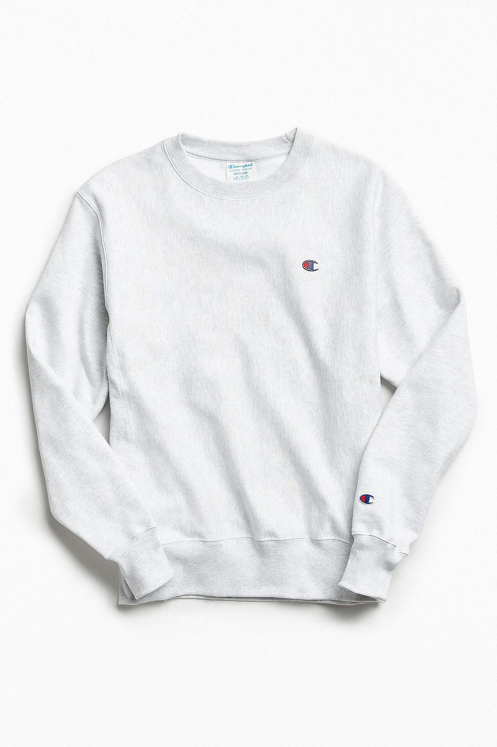 Urban Outfitters Champion Reverse Weave Fleece Crew Neck Sweatshirt Light Grey Xxl Sweatshirts Crew Neck Sweatshirt Grey Champion Sweatshirt [ 1463 x 975 Pixel ]