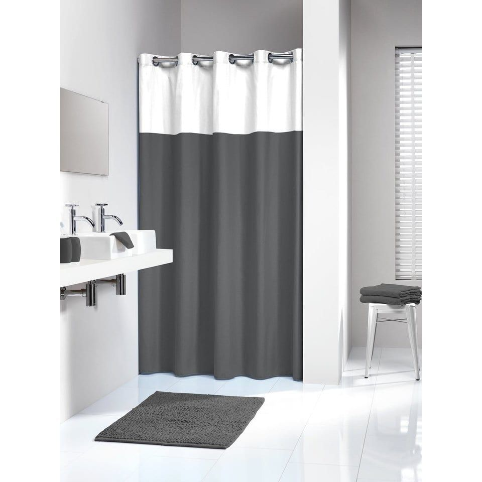 Sealskin Extra Long Hookless Shower Curtain 78 X 72 Inch Doppio