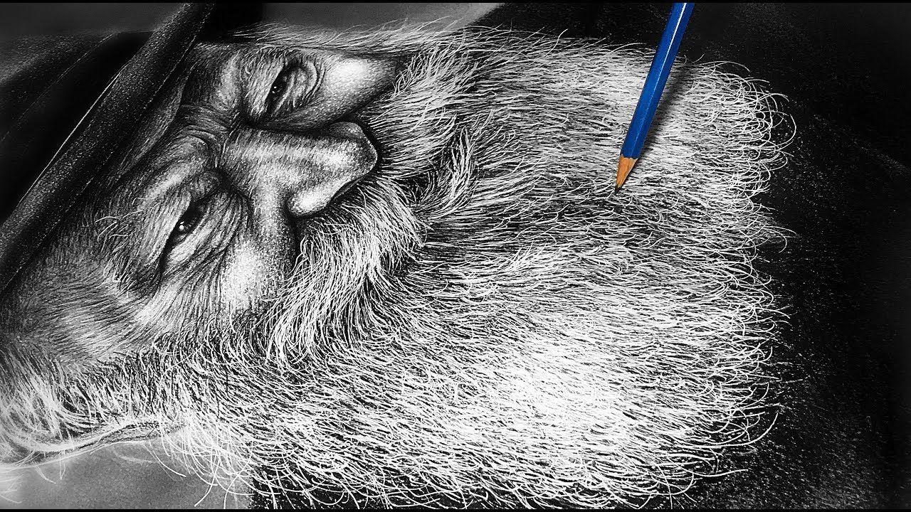 How To Draw White Hair And Beard Long White Beard 5 Step Tutorial Youtube In 2020 White Beard Beard Drawing Long Beards