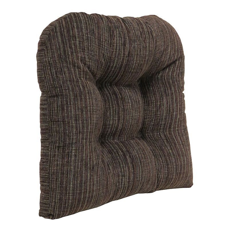 """The Gripper Polar Chenille Extra Large 17"""" x 17"""" Tufted Chair Pad, Brown"""