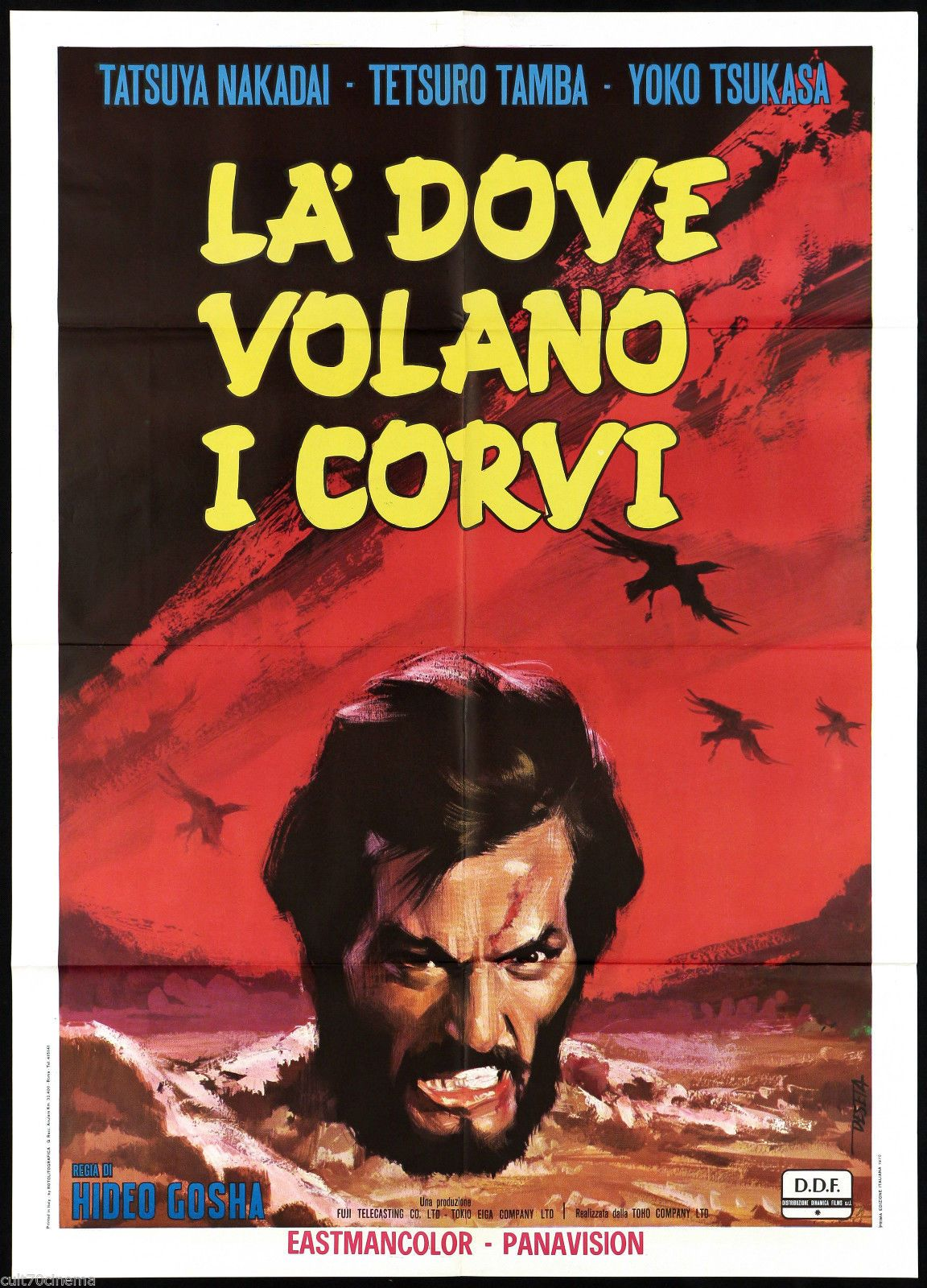 Là dove volano i corvi aka Goyôkin (1969) (Italy) | Movie titles, Comic  book cover, Comic books